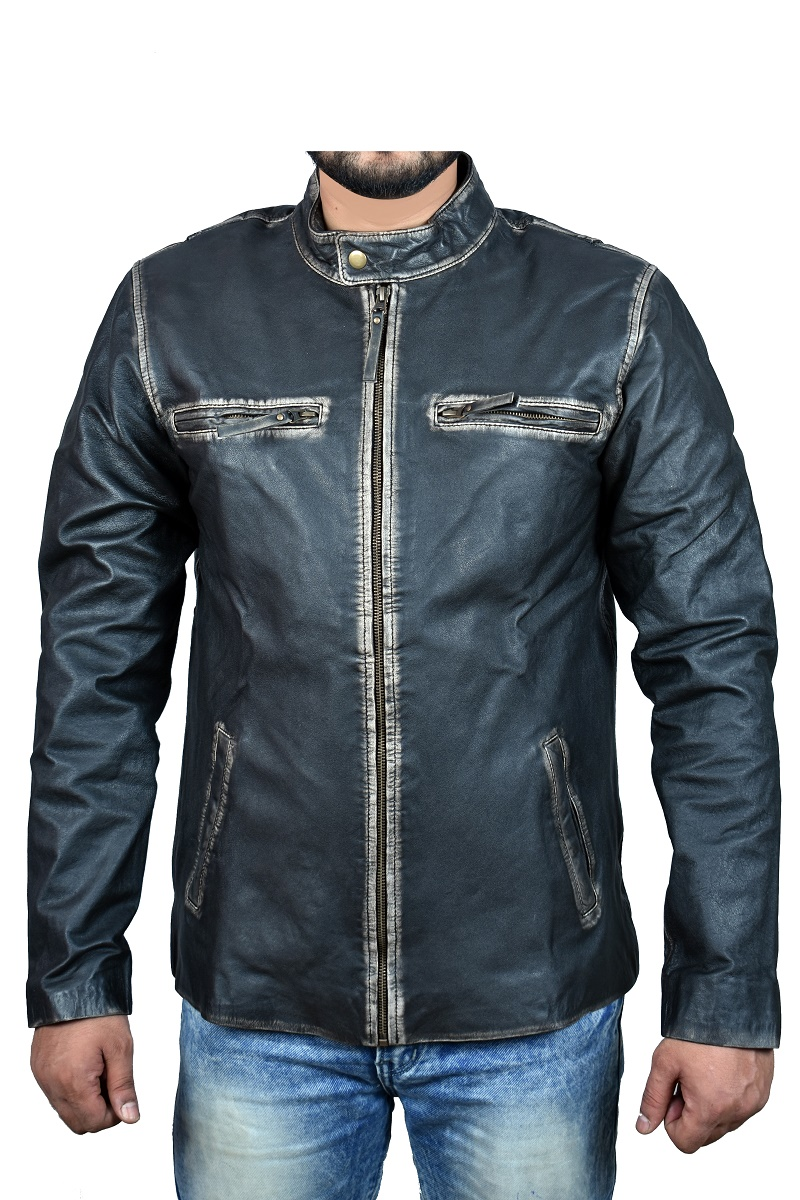 Motorbike Leather Classic vintage styled leather jacket with CE approved armour Black Motor-cross Genuine Leather 6 month Warranty 44-46 XXL Sterling Sports/® Mens Motorcycle Jackets